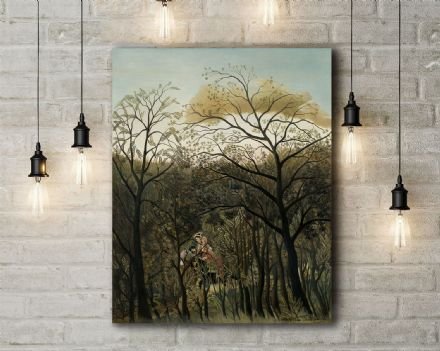 Henri Rousseau: Rendezvous in the Forest. Fine Art Canvas.